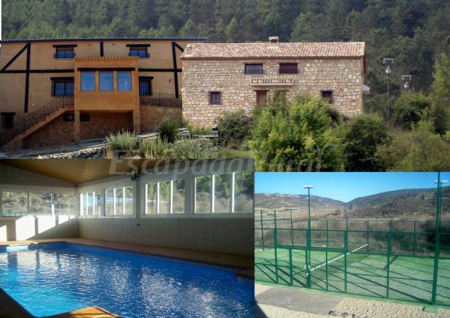 Casas rurales el fresno casa rural en boniches cuenca - Casa rural piscina interior ...