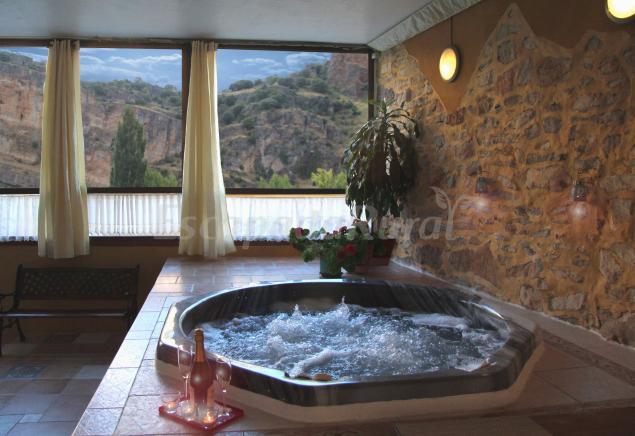 Spa y casa rural r o dulce casa rural en aragosa guadalajara - Casa rural catalunya piscina interior ...