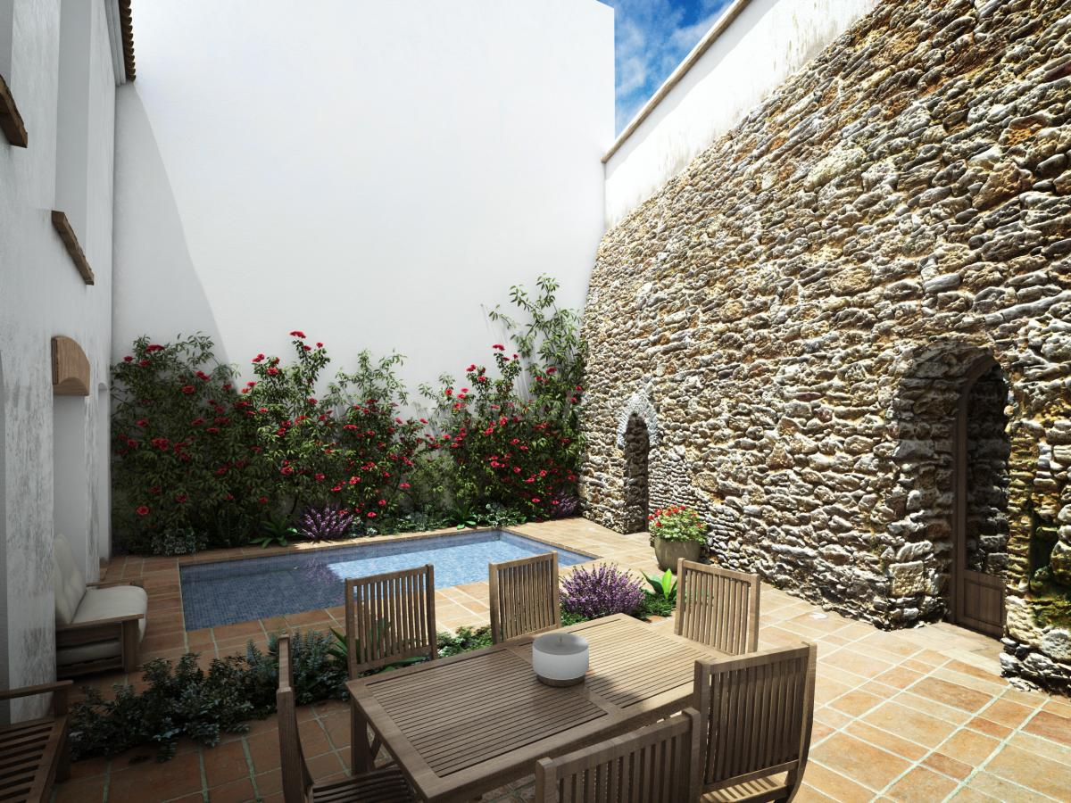 Foto di casa del corregidor casa vacanze asantaella - Piscinas en patios interiores ...